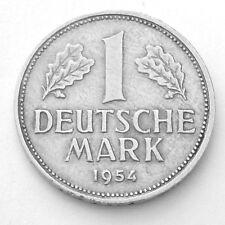GERMANY 1954 J  RARE 1 MARK EXTRA FINE LOOKING COIN