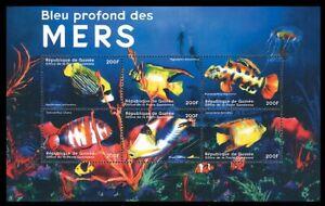 Guinea 2001 MNH SS, Gold Fish, Marine Life
