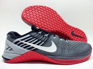 NIKE METCON DSX FLYKNIT DARK GREY/WHITE-UNIVERSITY RED SZ MEN'S 15 [852930-002]