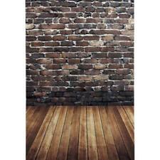 3x5ft Brick Wall Wood Floor Photography Backdrop Photo Background Studio Props