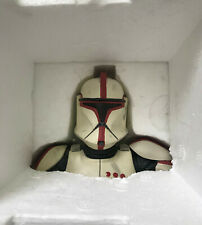 Star Wars Gentle Giant Statue Bust Red Clone Trooper AOTC - #4657 of 7500