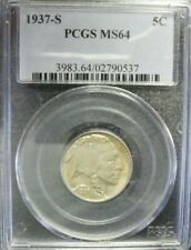 1937-S  Buffalo Nickel  PCGS MS64  OLD BLUE HOLDER