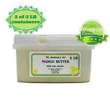6 LB REFINED EXPELLER PRESSED ORGANIC MANGO BUTTER