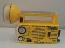 Vintage Dynamo & Solar Survival FM/AM Radio & Flashlight Hand Crank / Battery