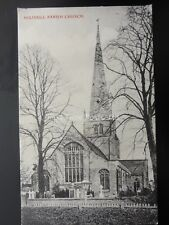 Warwickshire SOLIHULL PARISH CHURCH c1907 Postcard by J.E. Pauter of Solihull