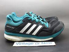 a5341137ec1de Men s Adidas Supernova Glide 8 Core Black White Green Running Shoes AF6547  ...