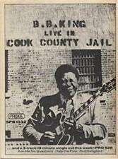 B.B.King Live In Cook County Jail LP advert Time Out cutting 1971