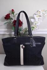Black Coach Voyage F13813 Signature Jacquard Diaper Bag Handbag Tote (900