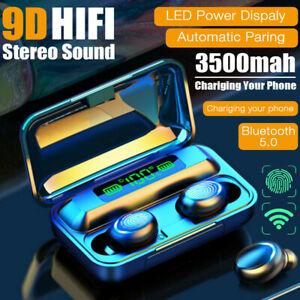 TWS 9D Kopfhörer Bluetooth 5.0 Touch Control In-Ear Ohrhörer Wireless Headset DE