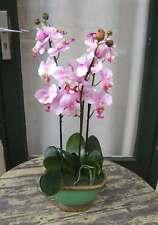 Künstliche Orchidee 3 Stile rosa Blüten ca. 60cm