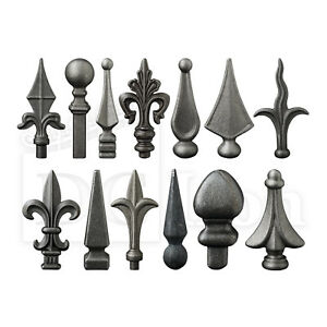 Railheads Finials Spearpoint Gate Fence Top Railings Wrought Iron Components
