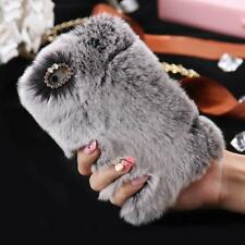 Fluffy Villi Fur Plush Wool Bling Case Cover Skin For iPhone 6/ 6S 4.7inch Gray
