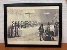 Framed engraving 30x40 cm Freemason Vrijmetselarij Festive Board Table Lodge