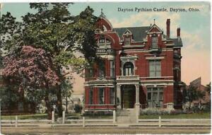 "DAYTON OHIO 1900's ""DAYTON PYTHIAN CASTLE""--PUB. BY--J. B. MEILER & SONS--WOWSER"