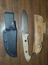 Benchmade Bushcrafter Fixed Blade Knife Tan Handle Black Kydex Sheath 162-1