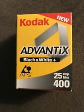 1 Roll Kodak Black & White Aps B&W Film 400-25 Iso Exposures Advantix Expired