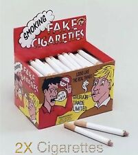 2x Fake Cigarettes Smoking Effects Lit Theatrical Stage Prop Novelty Joke Trick