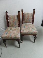 Stuhl Stühle 4 Stück Antik Nußbaum um 1880 Selten Schnitzerei Sitzgruppe Design
