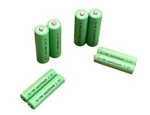 AA & AAA Solar Light Rechargeable Batteries Ni-MH 1.2v 150 300 600 1000 mAh