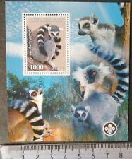 2007 animals lemurs mammals scouts souvenir sheet Mnh