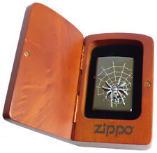 Zippo Lighter ● Spider Skull Limited Spinne Holzbox ● New OVP ● C46