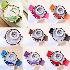Mode Mädchen Damen Lederarmbanduhr Armbanduhr Quarz Watch Strass Uhr Geschenk