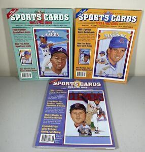 Allan Kaye's Sports Card Price Guides 1992 Lot of 3 Aaron Clemens Sandberg