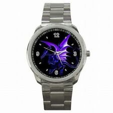 Purple Dragon Dungeons and Dragons Fantasy Stainless Steel Watch