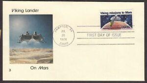 1978 Viking Mars Mission Sc 1759 FDC with Viking Lander on Mars cachet