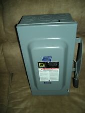 Square D 100 Amp Disconnect Safety Switch D323n Indoor 240 V Fusible