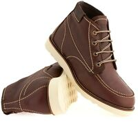 Mens Soft Leather Casual Retro Walking Chukka Lace Desert Ankle Boots Shoes Size