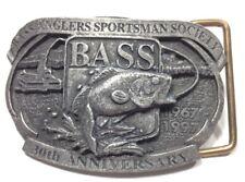 Bass Anglers Society Sportsman Belt Buckle 30th Anniversary 1967-1997 B1-P