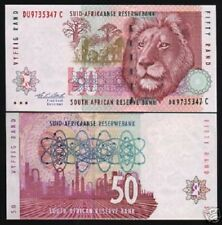SOUTH AFRICA 50 RAND P125 B 1992 LION OIL REFINERY UNC ANIMAL MONEY BANK NOTE