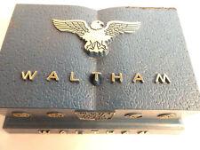 Jewel Selfwinding Watch And Guarantee Card Vintage Waltham Blue Watch Box For 17