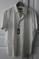 NWT John Varvatos Men White Polo Shirt size XL