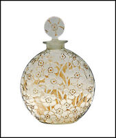 """Rene LALIQUE Glass Le Lys Perfume Bottle Signed D""""Orsay Volnay Chypre Antique"""