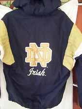 NOTRE DAME MAJESTIC FIGHTING IRISH PUFFER MEN'S HOODED JACKET EMBROIDERED MDM