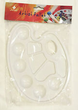 Artist Painting Pallet Plastic Oval Palette Paint Wholesale Crafts Art Supply