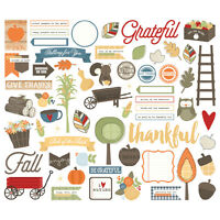 Simple Stories Hello Fall Bits  Pieces DieCuts 62 Pkg