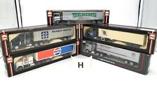 HERPA HO 1/87 LOT #H - 5 x CAMIONS US CHEVY BISON WHITE KENWORTH SEMI REMORQUES