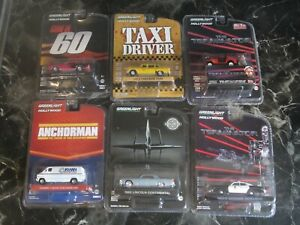 6 x GREENLIGHT HOLLYWOOD COLLECTABLE VEHICLES (NEW) - SCALE 1:64