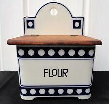 German Flour/Salt Box/Canister Blue/White Waechtersbach Germany Beehive Mark