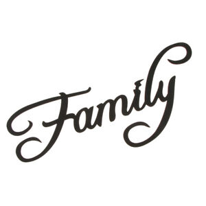 Wooden Family Sign Home Wedding Rustic Wall Art DIY Home Decoration Black