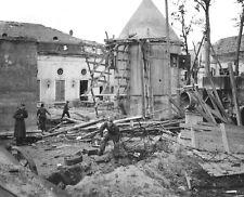 WWII B&W Photo Allied Troops Inspect Area of Hitler Fuhrerbunker  WW2 / 2315