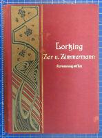 Zar und Zimmermann Komische Oper in 3 Akten Klavierauszug Lortzing Noten Y5-1083
