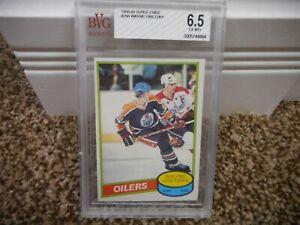Wayne Gretzky 1980-81 O-Pee-Chee #250 BVG Beckett graded 6.5 EX-MT+ card CRACKED