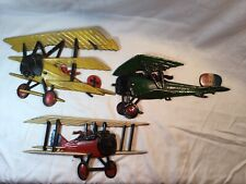 Set of 1975 Vintage Homco Cast Metal Airplanes Wall Mount Aircraft Decor A7/Fr