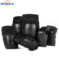 6x Adult Roller Skating Protective Gear Set Knee Pads Elbow Pads Wrist Guards