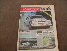 Motoring News 12 November 1986 RAC Rally Preview Markku Alen Mazda 323 Turbo