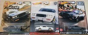 HOT WHEELS 87 BUICK GNX - White, Grey & Black (ALL 3 Colours)